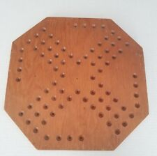 Chinese Checker Board Vintage Style Wood Wall Decor Art Game Octagon