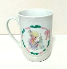 VINTAGE PRECIOUS MOMENTS 1991 MAY YOUR CHRISTMAS BE BLESSED ENESCO MUG