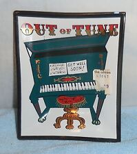 """Vintage - """"Out of Tune - Get Well Soon""""  Piano Translucent Glass Ashtray (NEW)"""