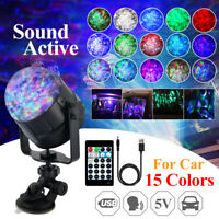 "15 Colors RGB LED Stage Light Magic Effect USB DJ Disco Ball Party   ""+"
