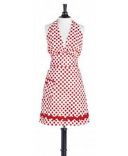 New Jessie Steele WHITE & RED POLKA DOT BOMBSHELL Apron Holiday Christmas gift