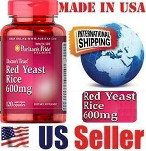 Puritan's Pride RED YEAST RICE - 600 mg - 120 Capsules - LOWER CHOLESTEROL