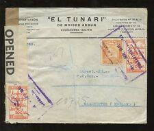 Bolivia registrado 1941 Cochabamba En Caja + Gb censurar... Moises asbun