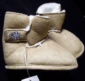 Baby Newborn Girls Soft Slipper Boots Khaki 3 6 9 12 Months Size 1 2 3 4 NWT