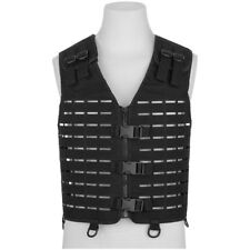 Mil-Tec Laser Cut Gear Carrier Vest Military Army Security MOLLE Utility Black
