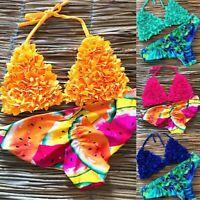 Floral New Bikini Ladies Bra Womens Padded Swimwear Fashion Swimsuit Triangle