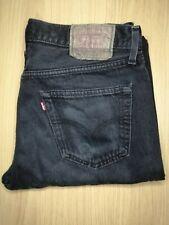 Mens Vintage LEVIS 501 Denim Jeans W35 L34 Black Regular Straight Leg