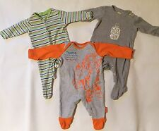 Baby Boys 0-3 Months X3 Disney Mothercare TU Baby Grow Bodysuit Tigger Bundle