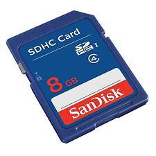 SANDISK SD HC SDHC 8GB 8G 8 G GB FLASH MEMORY CARD LIFE TIME WARRANTY NEW