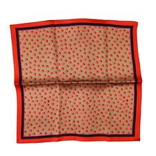 $185 New ITALO FERRETTI Bronze Pink Polka Dot Silk Handkerchief Pocket Square