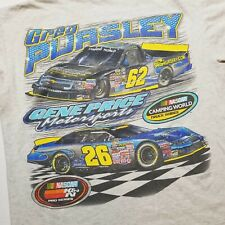NASCAR Greg Pursley Mens T-Shirt sz M Gene Price Motorsports Camping World D58