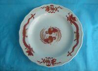 Meissen Roter Reicher Hofdrache Kuchenteller 1. Wahl 20 cm Cake Plate red Dragon