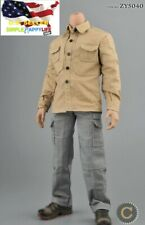 "1/6 Male combat clothes C for 12"" Figure pants shirt for hot toys worldbox ❶USA❶"