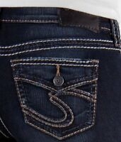Silver Jeans Skinny Mid Rise Suki Faux Flap Stretch Jegging Jean 27 28 30 31