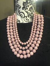 Sugarfix by Baublebar Pink Bold Beaded Statement Necklace NWT