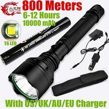 SMALL SUN CREE XM-L T6 LED 800meters 2000lumen TACTICAL Flashlight 10000mAh BATT