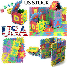 36Pcs Baby Number Alphabet Puzzle Foam Maths Pack Mat Child Educational Toy US