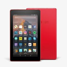 New 2017 Amazon Fire 7 Tablet with Alexa 16GB Wi-Fi Quad Core RED-Free Case