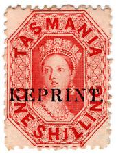 (I.B) Australia Postal : Tasmania 1/- (1871 Reprint)