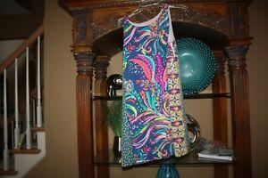 Lilly Pulitzer Jackie SILK Shift Dress Beach Loot Silk Size Medium M