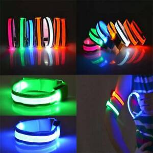 REFLECTIVE GLOW ARMBAND ANKLE BATTERY LED Light running cycling night arm Safety