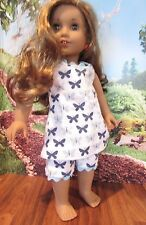 "homemade 18"" american girl/madame alexander B butterfly lea pajamas doll clothes"
