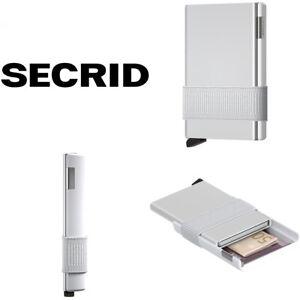 SECRID CARDSLIDE WHITE + FIDELO HYBRID LEATHER CASE BLACK. BRAND NEW IN BOX!