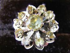 Sarah Coventry Vintage Fashion Adjustable Ring  Eleven White Rhinestone