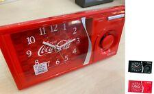 SEIKO 14.9cm Coca Cola Alarm Quiet Sweep Snooze Light  7 Sounds Volume Control