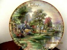"Thomas Kinkade ""Hometown Lake"" decorative Plate in ""The Spirit of Life"" Collecti"