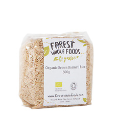 Forest Whole Foods Organic Brown Basmati Rice 500g ( UK Delivery)