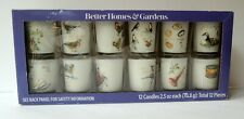 Better Homes & Gardens 12 days of Christmas Glass Votive Candle Set New
