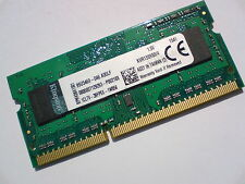 4GB DDR3-1333 PC3-10600 KINGSTON KVR13S9S8/4 LAPTOP SODIMM RAM SPEICHER