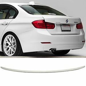BMW F30 Painted Alpine White 300 3 SERIES ABS 12-18 REAR BOOT POILER M3 STYLE