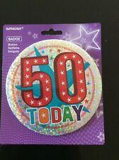 Large 50th Birthday Badge/ Pin Badge