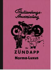 Zündapp Norma Luxus Norma-Luxus Bedienungsanleitung Betriebsanleitung Handbuch