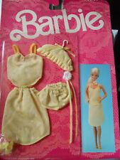 Barbie FANCY FRILLS LINGERIE  1986 3183  Yellow