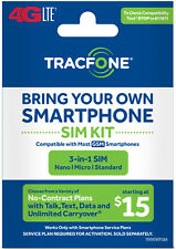 new Tracfone Bring Your Own Phone SIM Kit - AT&T GSM Compatible trac phonE track