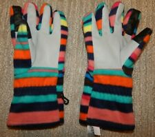 Lands' End Multicolor Striped Fleece Gloves Girl's / Youth Large (6 1/8 - 6 3/4)