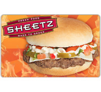 Sheetz Gift Card - $25 $50 or $100 - Email delivery