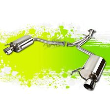 "FOR 06-10 LEXUS IS250/IS350 V6 DUAL 3.75""TIP STAINLESS STEEL CATBACK EXHAUST KIT"