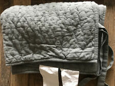 $39 Pottery Barn Pickstitch Cotton/Linen Quilted Stnd Sham - Charcoal Gray NWT