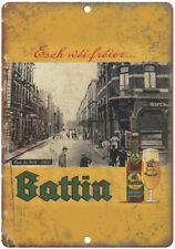 "Battin European Vintage Beer Ad 10"" x 7"" Reproduction Metal Sign E255"