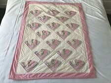 Vintage Homemade Patchwork Children's Girls Bed - Cot Cover