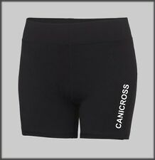 SLED DOG SPIRIT CANICROSS WOMENS BLACK COOL RUNNING TRAINING SHORTS CANI CROSS