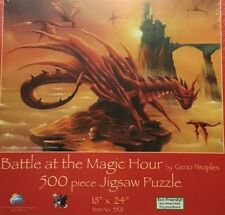 """Suns Out """"Battle At The Magic Hour"""" 500 Piece Puzzle Geno People's Dragon Art"""