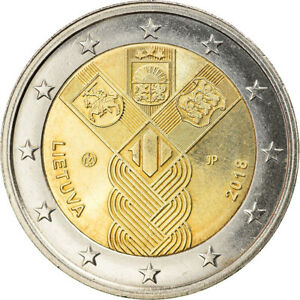 [#364723] Lithuania, 2 Euro, 100th Anniversary of the Baltic States, 2018