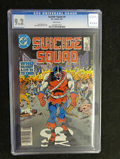CGC 9.2   1987 Suicide Squad #4  DC White Pages FREE SHIPPING