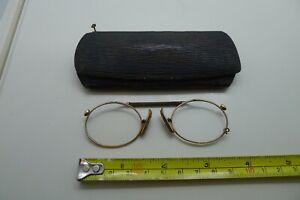 Antique vintage pince nez Rawling & Oldfield prescription eye glasses spectacles