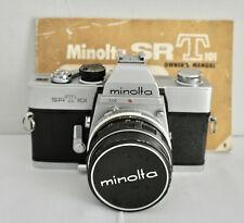 MINOLTA SRT 101 35 mm film camera & Minolta F1.7 55 mm Objectif Standard